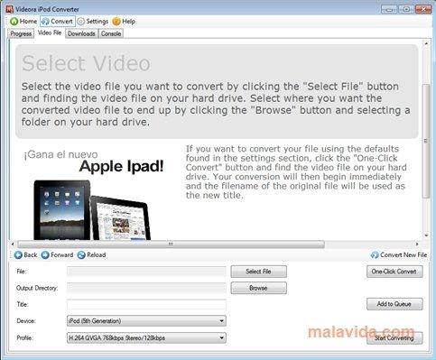 Videora iPod Converter image 4