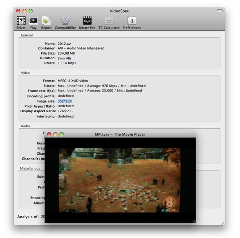 VideoSpec Mac image 4