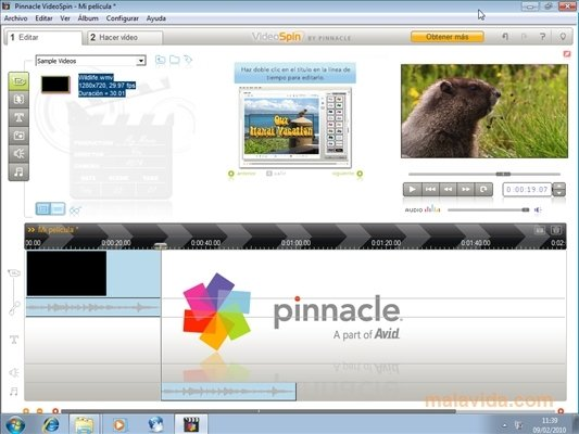 pinnacle videospin 2.0 gratuit