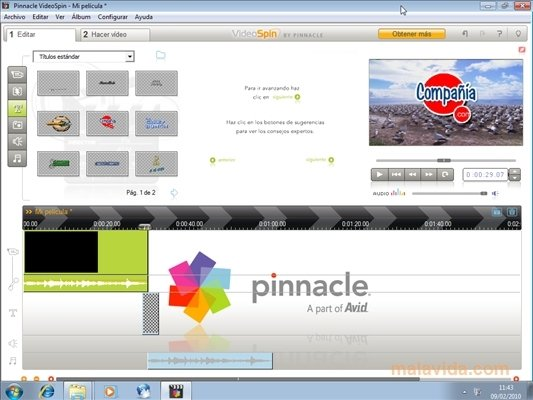 pinnacle videospin 2 gratuit