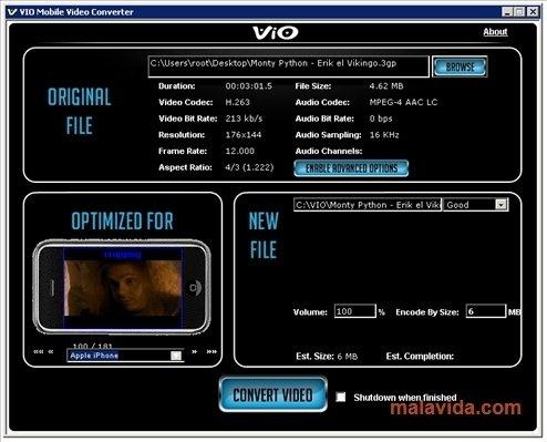VIO Mobile Video Converter image 4