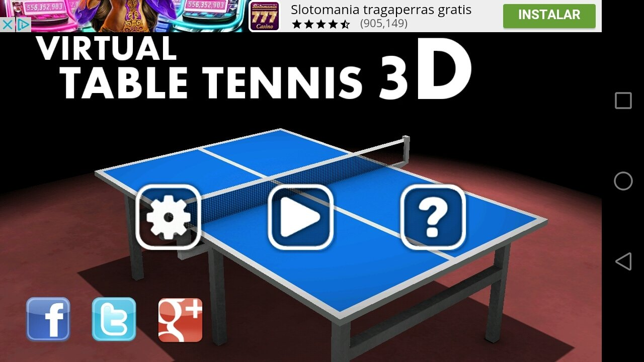 Virtual Table Tennis 3D Android image 4