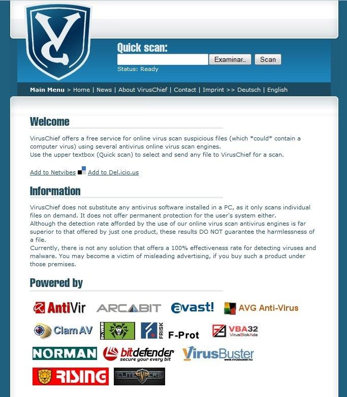 Virus Chief Webapps image 3
