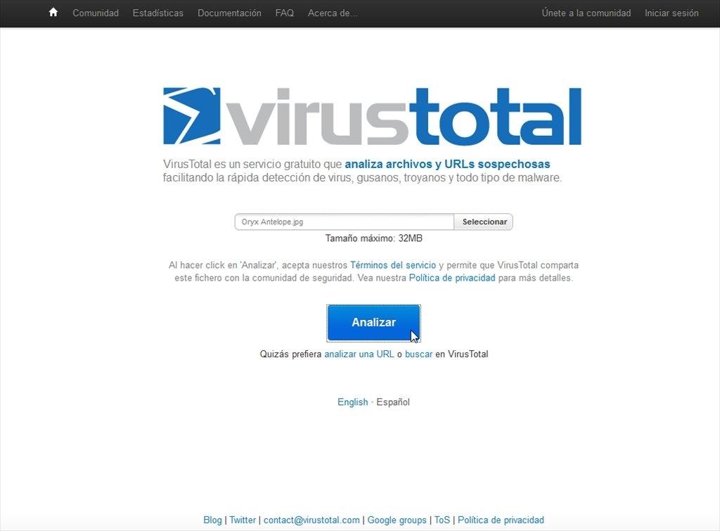 VirusTotal Webapps image 6