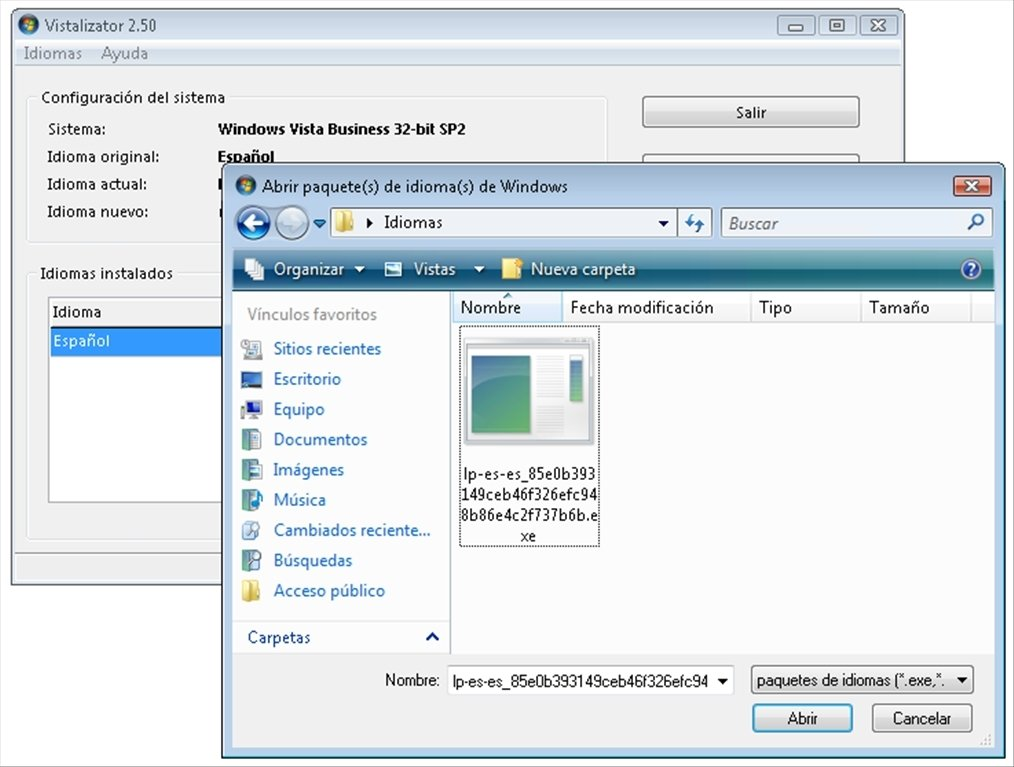 vistalizator for windows 7 32 bits