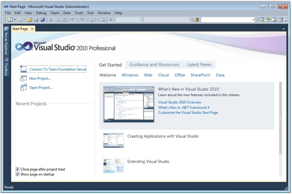 Visual Studio 2010 image 5