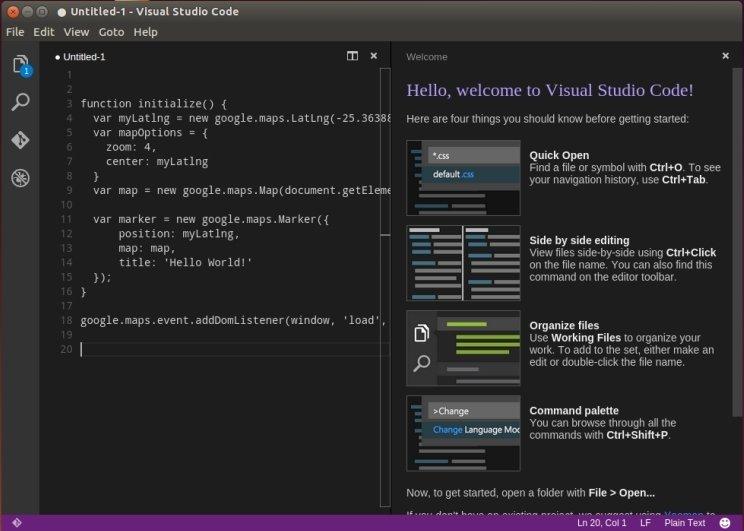 Visual Studio Code Linux image 4