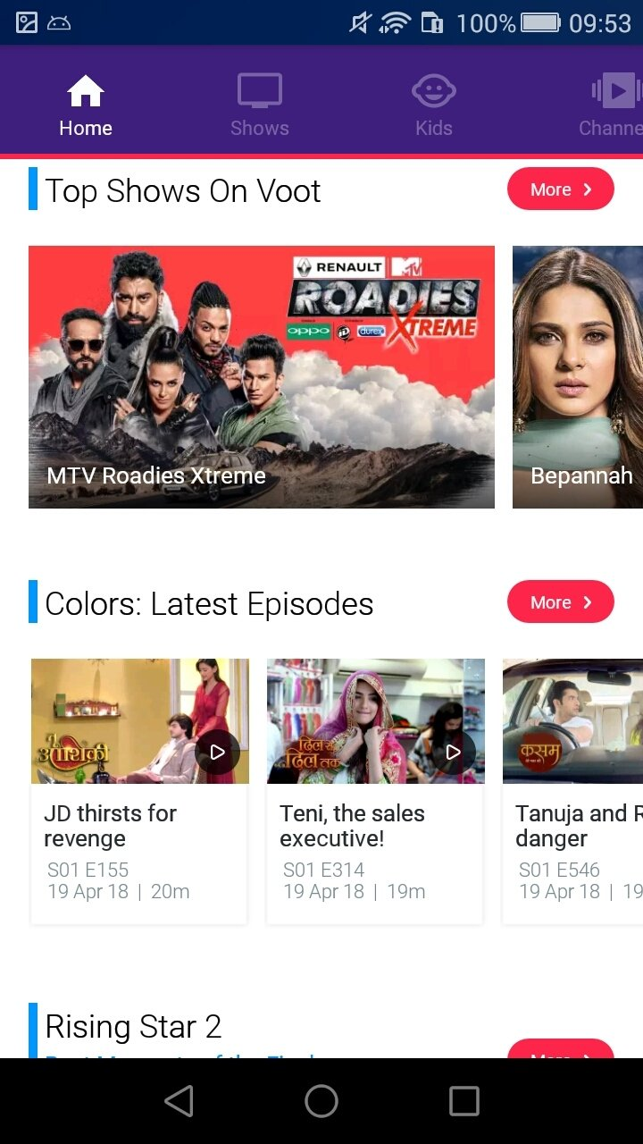 free online serials of colors