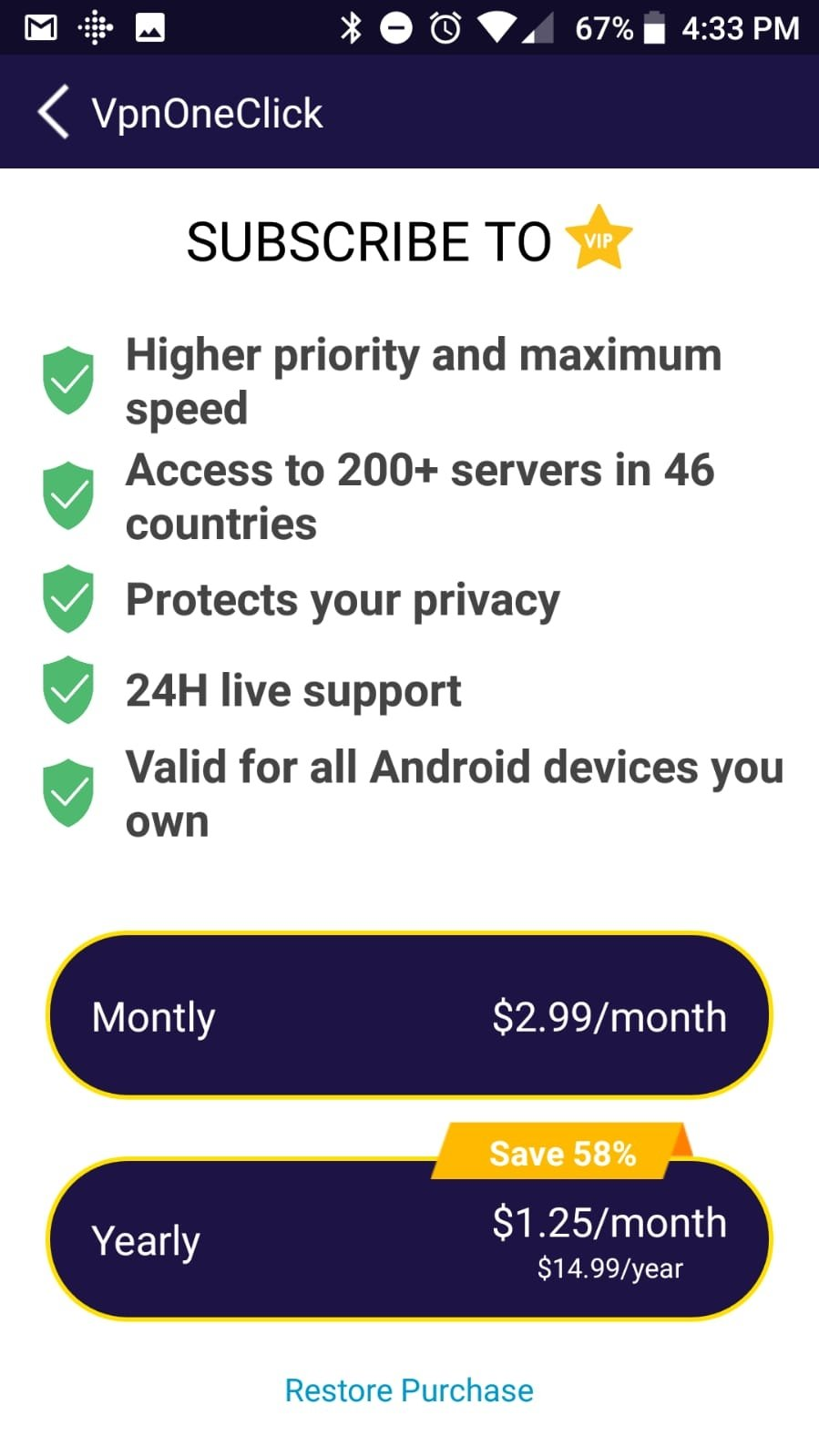 VPN One Click 12 2 3 - Download for Android APK Free
