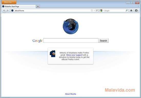 Waterfox image 4