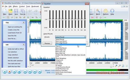 WaveMax Audio Editor
