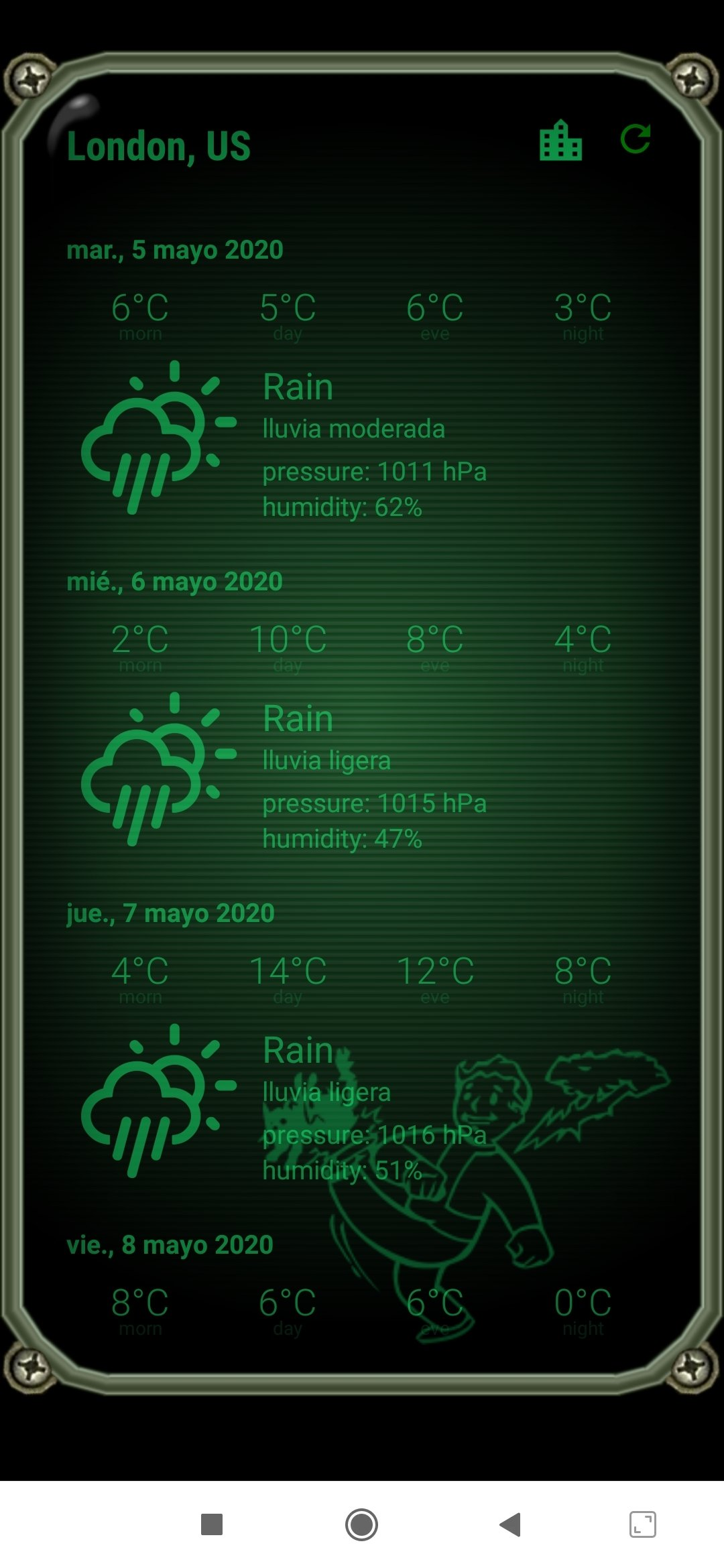 Weather Pipboy Android image 5