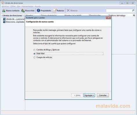 webmail thunderbird