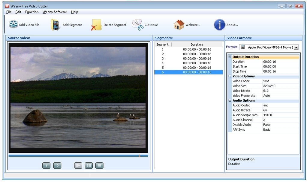 Weeny Free Video Cutter 1 3 - Download for PC Free