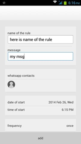 WhatsApp Scheduler Android image 2