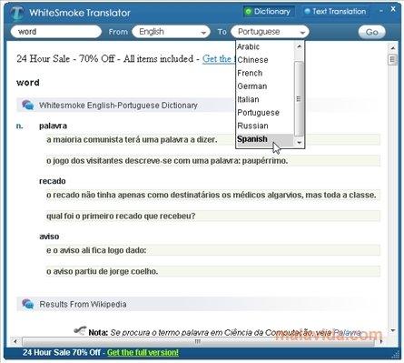 WhiteSmoke Translator image 4
