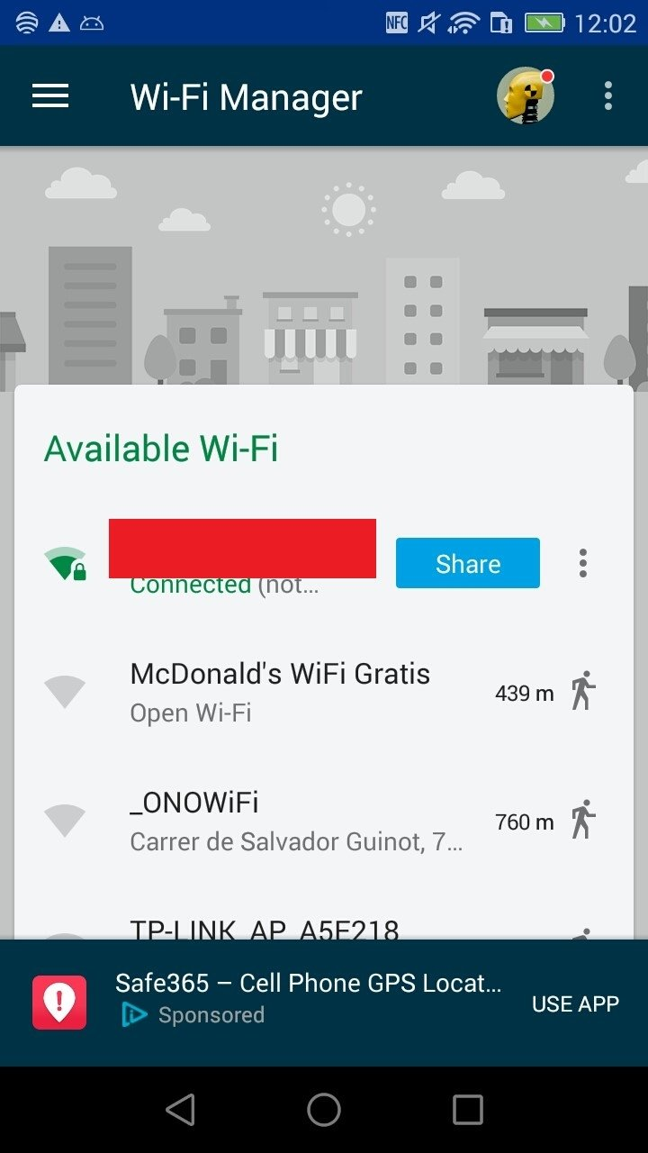application android pour wifi gratuit
