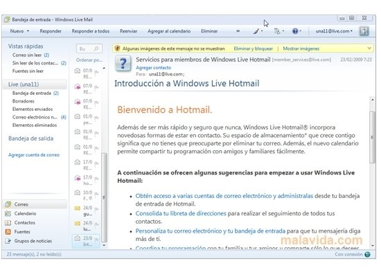 windows live mail 2009 clubic