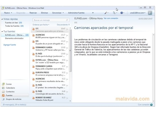 Windows Live Mail 2012 - Download for PC Free