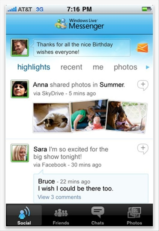 Windows Live Messenger iPhone image 5