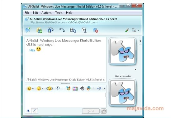 Windows Live Messenger Khalid Edition image 3