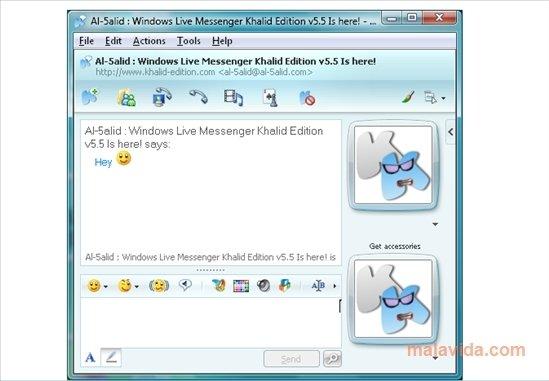 حصريا البرنامج العملاق لاضافة الكثير من الامكانات الهائلة للماسينجر Messenger Plus! Live 5.02.712 بحجم 6 ميجا وعلى اكثر من سيرفر Windows-live-messenger-khalid-edition-1071-1