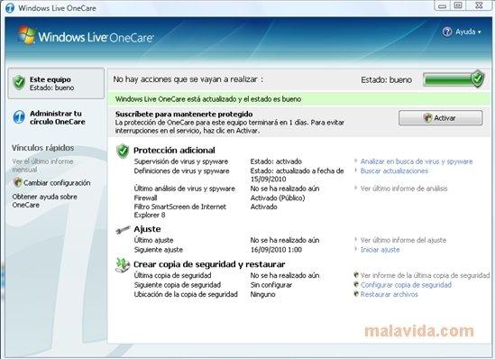 Windows Live OneCare image 4