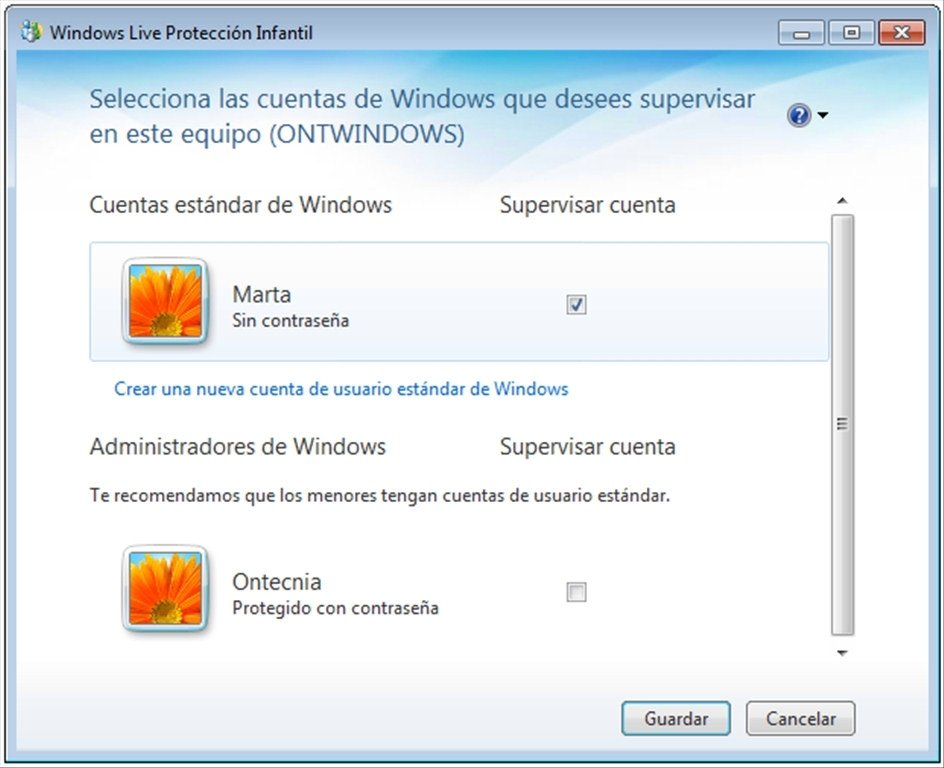 Windows Live Contrôle Parental image 7