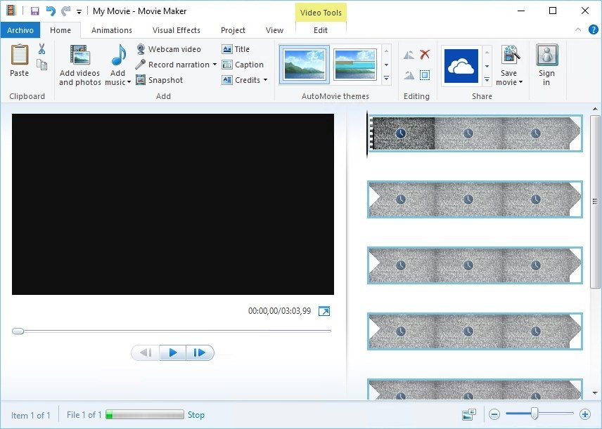 Windows Movie Maker Win 7 Español