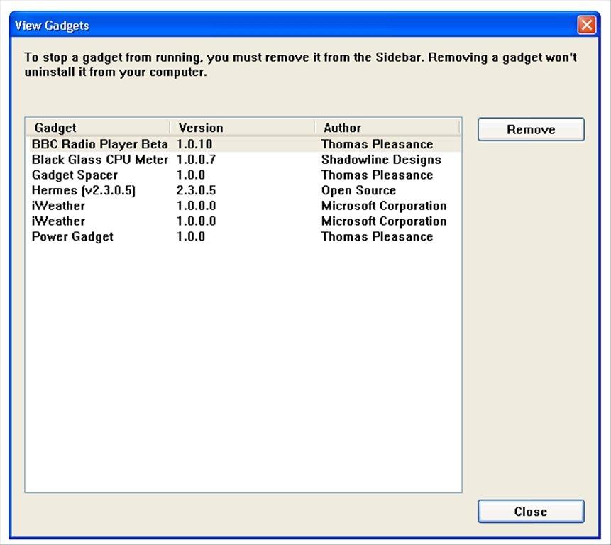 Windows Sidebar XP 6 0 - Download for PC Free
