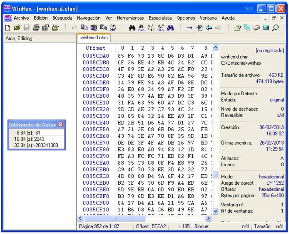 editeur hexadecimal gratuit