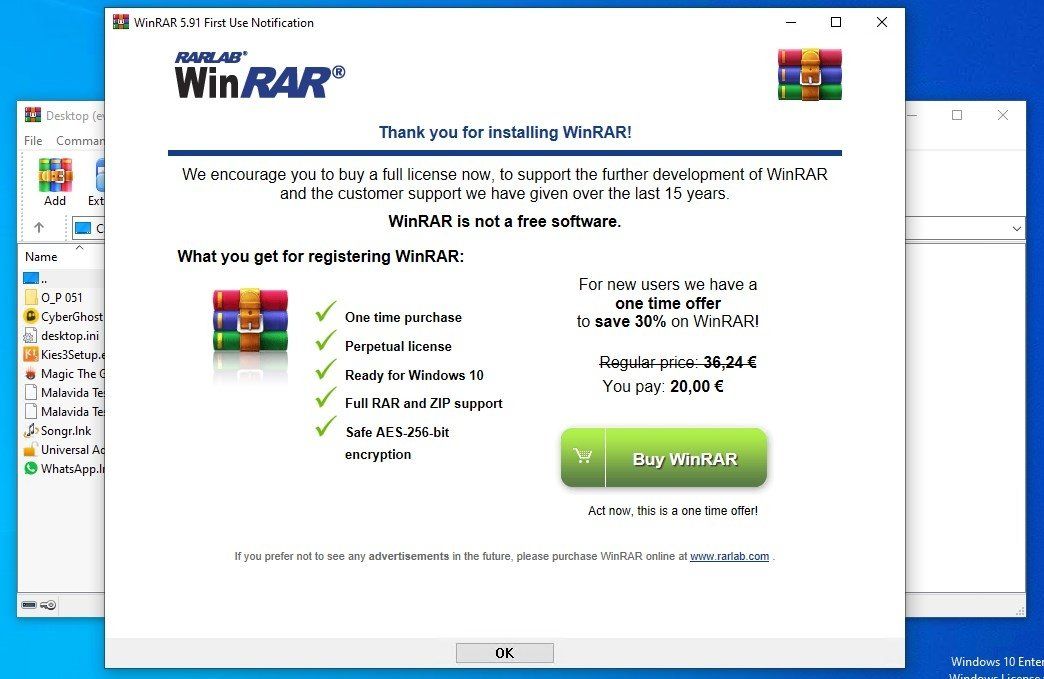WinRAR 32 bits 5 71 - Download for PC Free