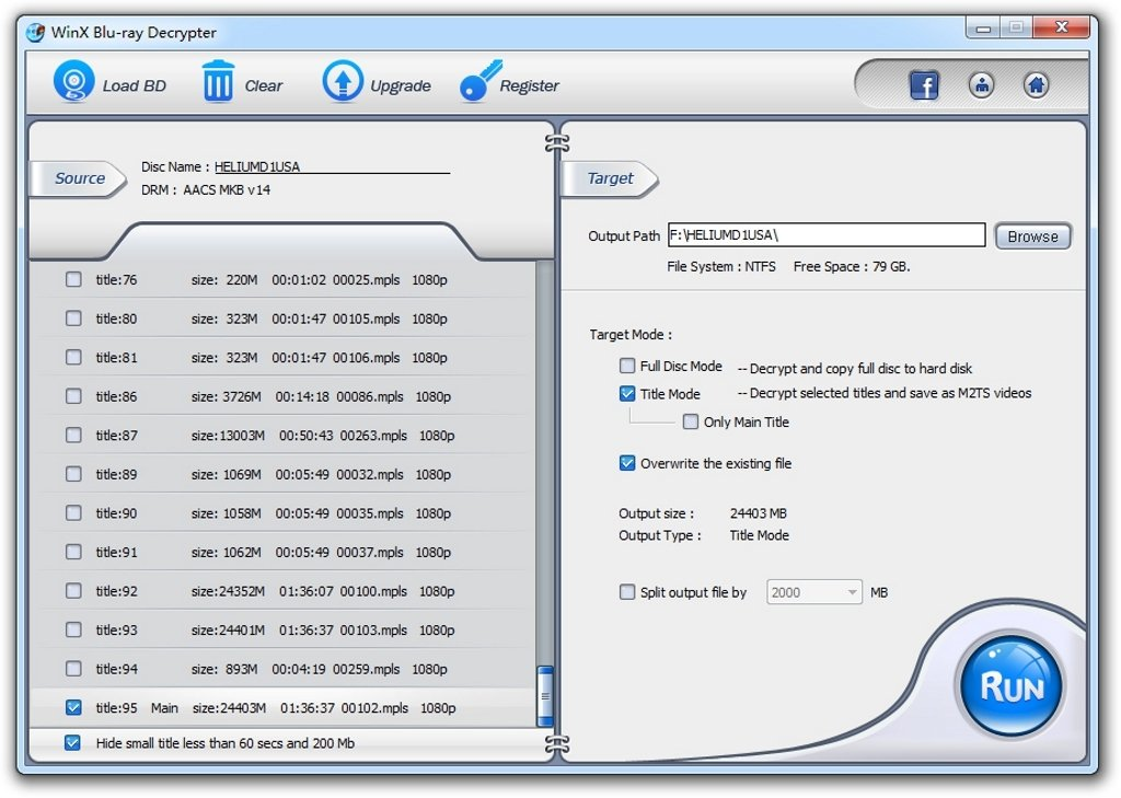 WinX Blu-ray Decrypter image 3