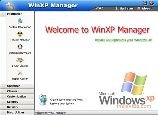 WinXP Manager image 4