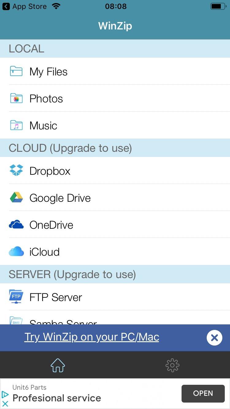 WinZip iPhone image 5