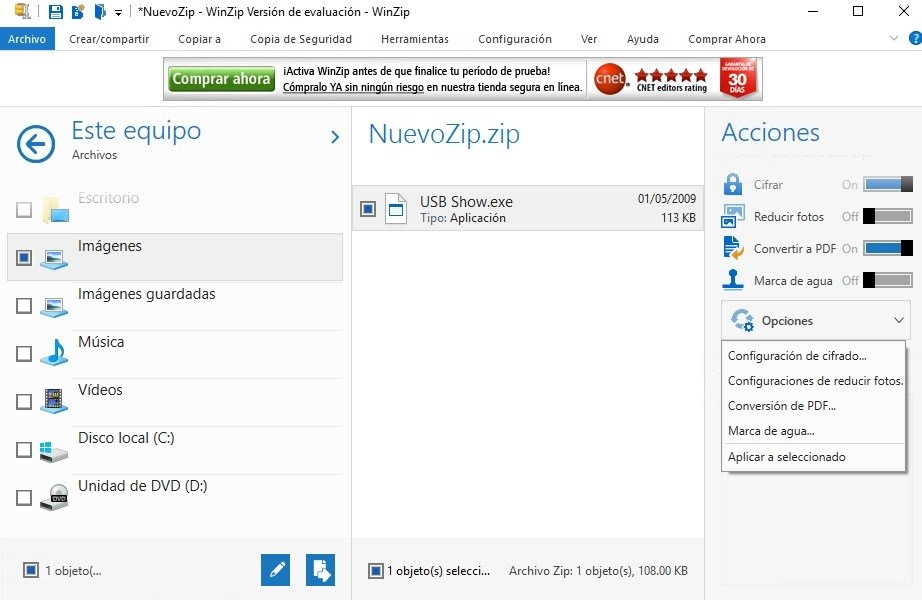 download winzip gratis en español