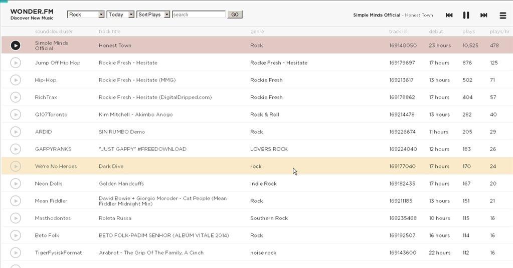 wonder.fm Webapps image 4
