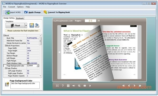 Word to FlippingBook 2.0.0