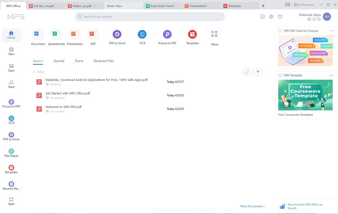 WPS Office 2016 Free 10 2 0 7635 - Download for PC Free