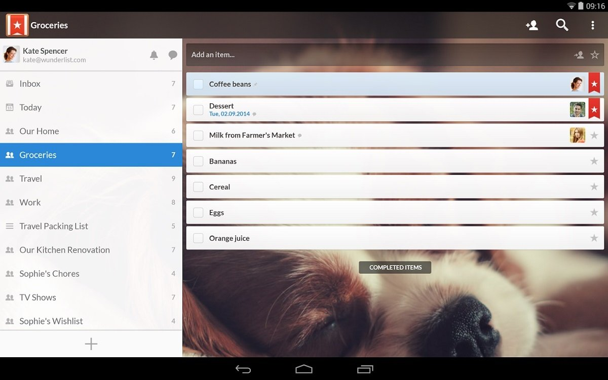 Wunderlist Android image 5