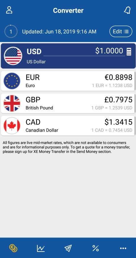XE Currency 5 1 2 - Download for Android APK Free