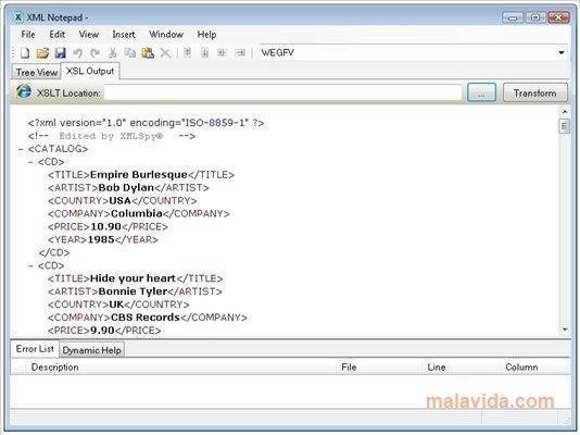 XML Notepad image 3