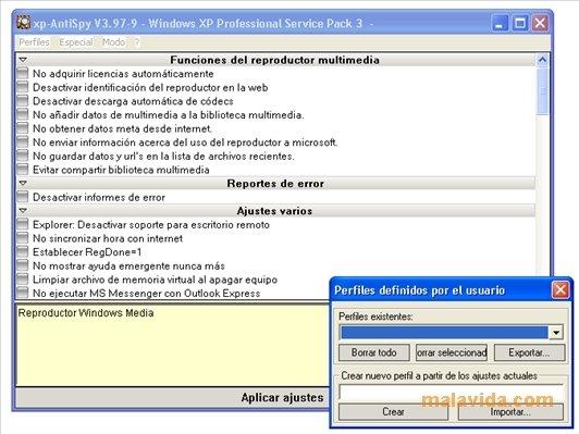 software spia windows xp