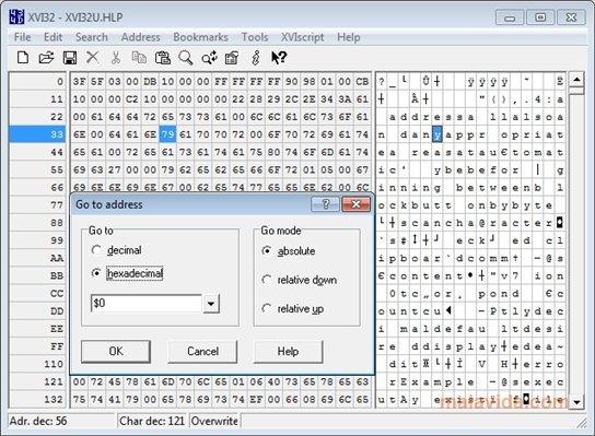 Hex editor xvi32 | digiex.
