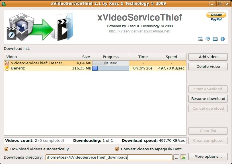 xVideoServiceThief Linux image 4