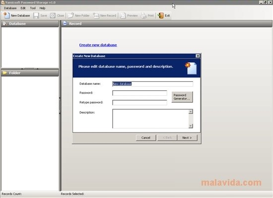 Yamicsoft Password Storage image 3