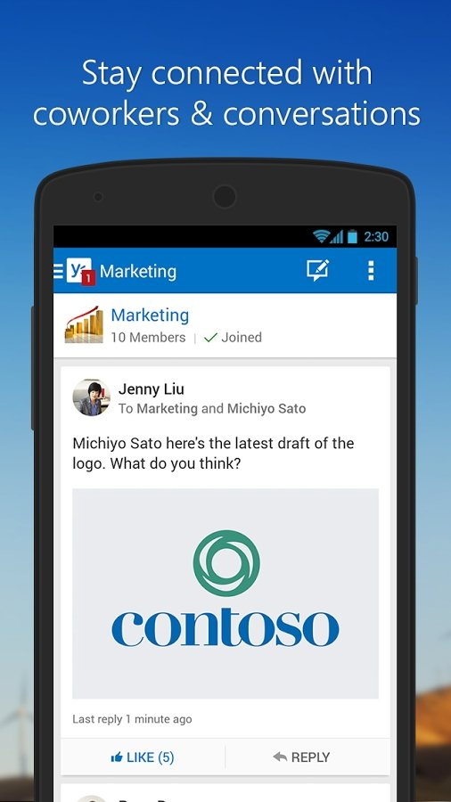 Yammer Android image 5