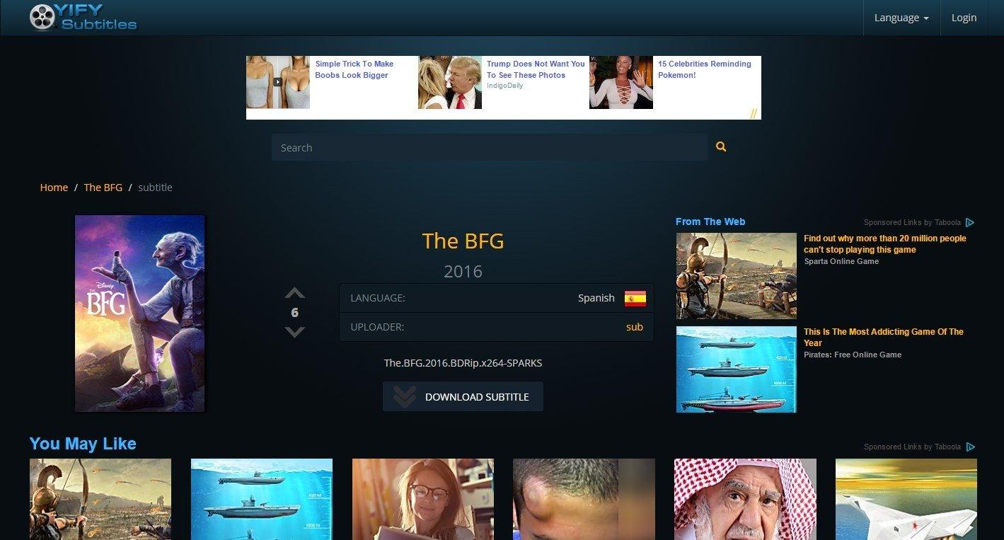 YIFY Subtitles en ligne - Gratuit