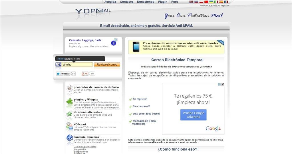 YOPmail Webapps image 4