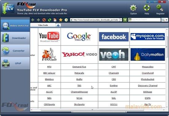 foxreal youtube flv downloader pro gratuit